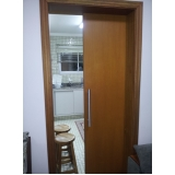 comprar porta de correr madeira sala Parque Maria Domitila
