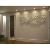 painel decorativo parede sala Pedreira