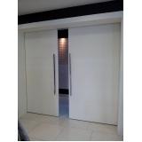 porta de correr de madeira completa Glicério