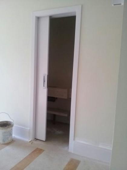 Porta Pivotante Branca para Cozinha Av Casa Verde - Porta Pivotante Branca
