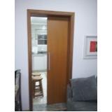 porta de correr madeira para quarto Moema